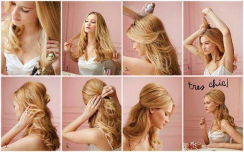 Прически с украшениями для волос на каждый день. Прически с распущенными волосами на каждый день