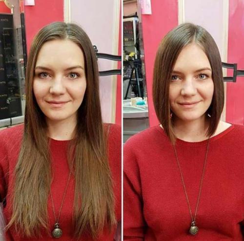 Стрижки до и после женские. «До и после»: преображения женщин в руках стилиста