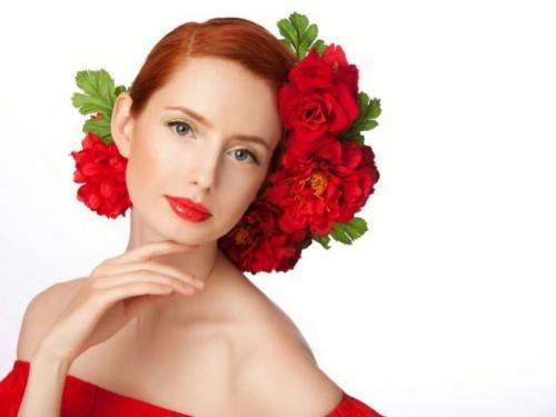 Макияж под красный цвет волос. Макияж по цвету волос