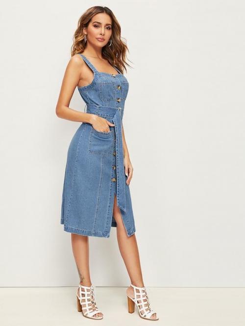 Джинсовое платье с чем носить. Популярные фасоны и модели