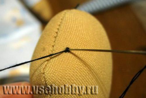 Как сделать игрушке глаза из ниток. Как вышить глазки Тильде французскими узелками