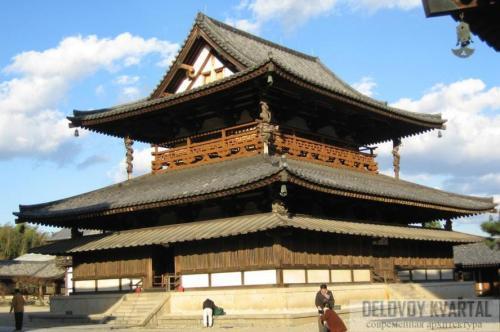 Архитектура японии. Кондо. Хорюдзи (VII в.)