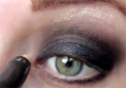 Черный макияж смоки айс (smoky eyes) пошагово
