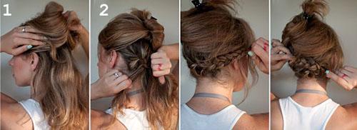 Видимость коротких волос из длинных. Превращаем длинные волосы в боб без стрижки (два способа, пошаговые фото)
