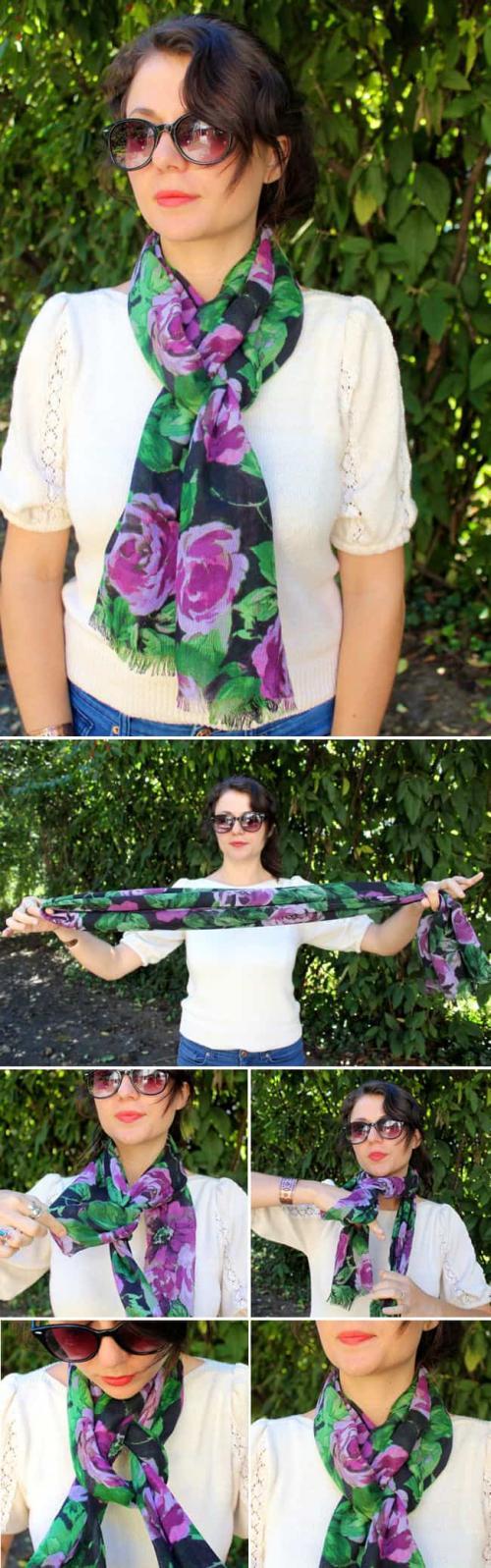 Как завязать шарф. 13 суперстильных способов завязать шарф