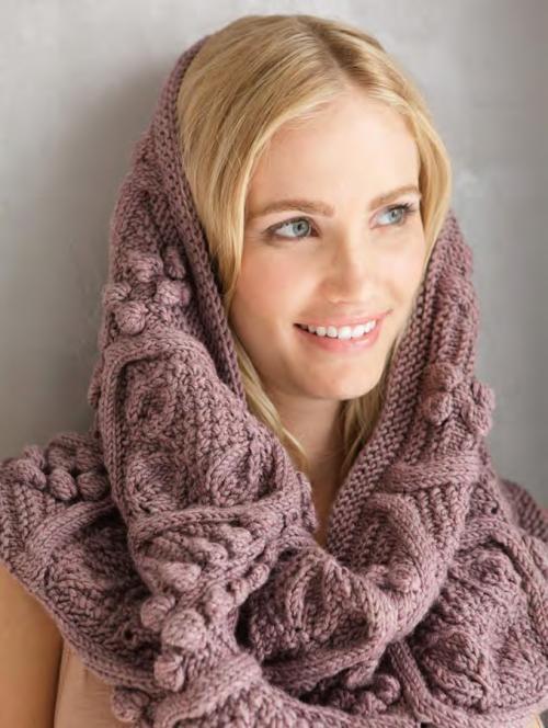 Снуд спицами: четыре схемы для вязания