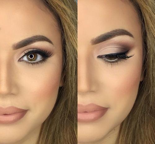 Красивый дневной макияж глаз. Косметическая продукция