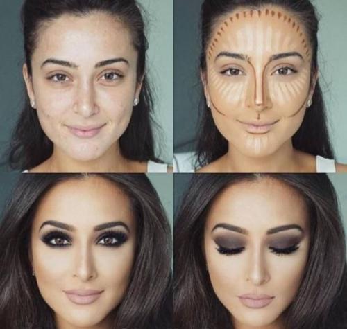 Коррекция овала лица макияжем. Что это такое