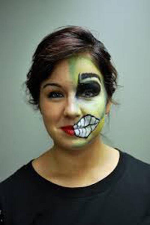 Вампир на лице рисунок. Как сделать макияж на Хэллоуин в домашних условиях
