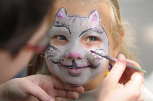 Грим кошки на лице для детей. Как нарисовать кошку на лице аквагримом
