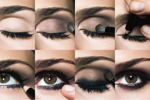 Карие глаза тени, какие. Как правильно красить