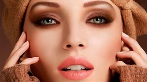 Повседневный макияж с коричневыми тенями. Макияж с коричневыми тенями