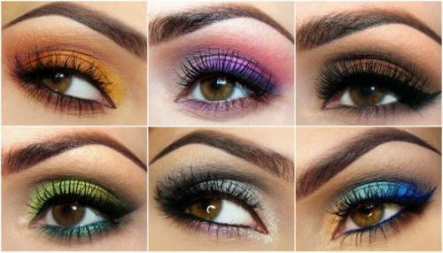 Накрасить карие глаза красиво. Цветовая палитра для макияжа карих глаз