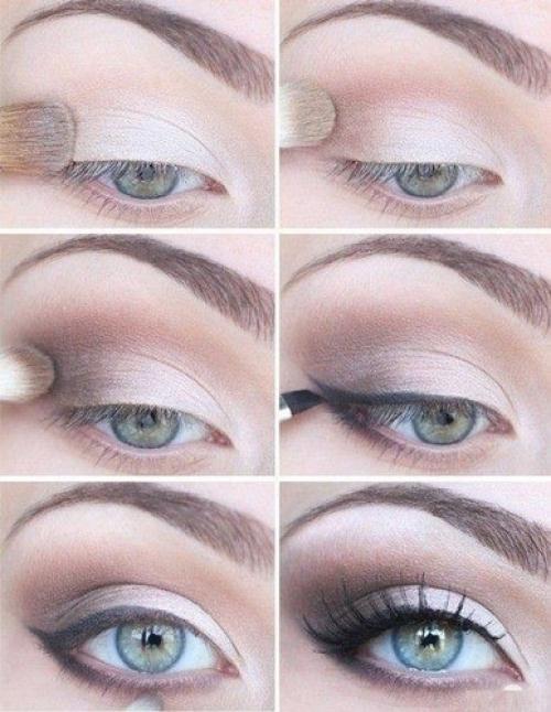 Как подобрать тени для серо-голубых глаз. Как накрасить голубые глаза