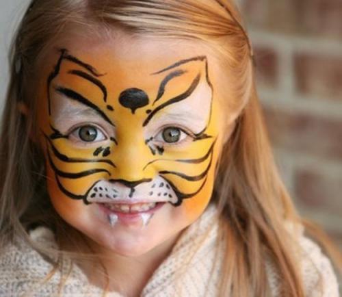 Грим на лице, как сделать. Грим на Хэллоуин для детей