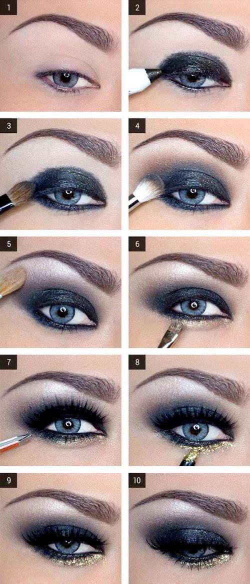 Макияж для голубых глаз 2019. 7 идей для макияжа на Новый год 2019 для голубых глаз