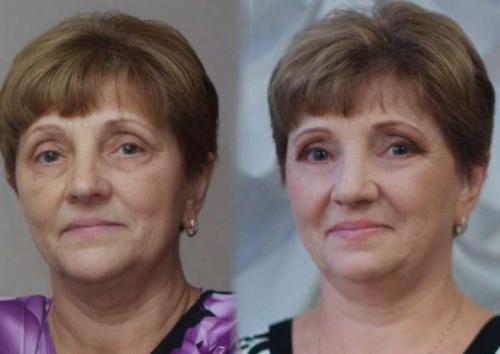 Макияж для женщины 50 лет голубые глаза. Оформляем глаза