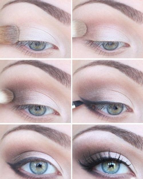 Макияж к темным волосам и голубым глазам. Виды макияжа для голубых глаз