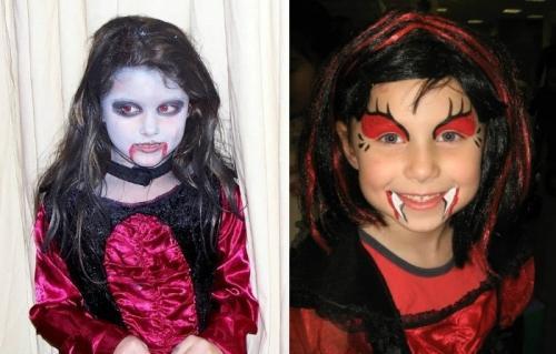 Чем рисовать грим на Хэллоуин. Макияж на Хэллоуин для детей в домашних условиях