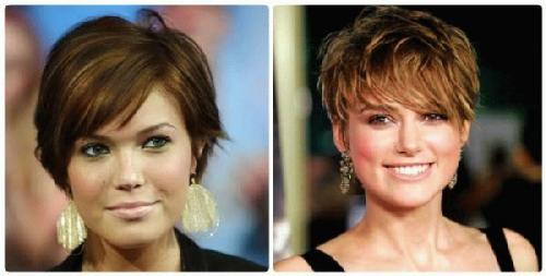 Женские короткие стрижки для широкого лица. Прически для длинных волос 11