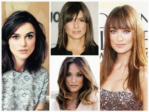 Женские короткие стрижки для широкого лица. Прически для длинных волос 06