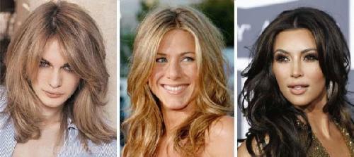 Женские короткие стрижки для широкого лица. Прически для длинных волос 13