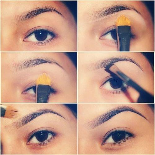 Как правильно красить брови тенями для бровей. Как накрасить брови карандашом и тенями: пошаговые инструкции