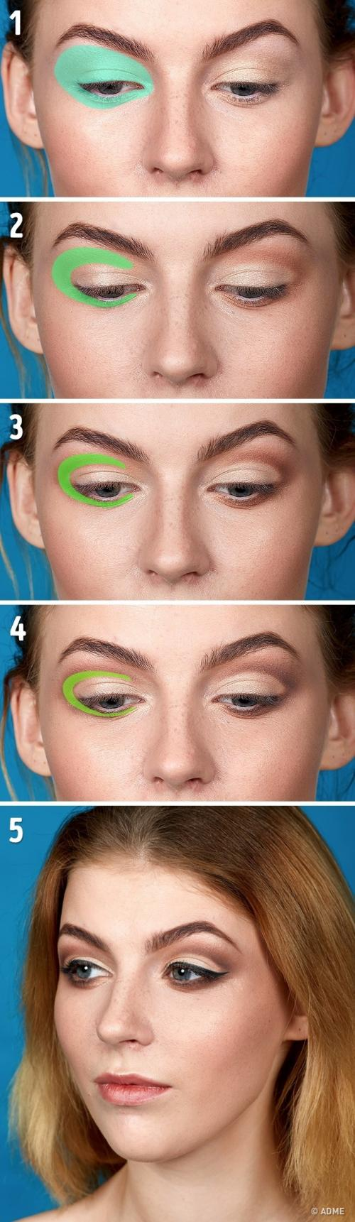 Техника визажа лица. Вертикальная техника