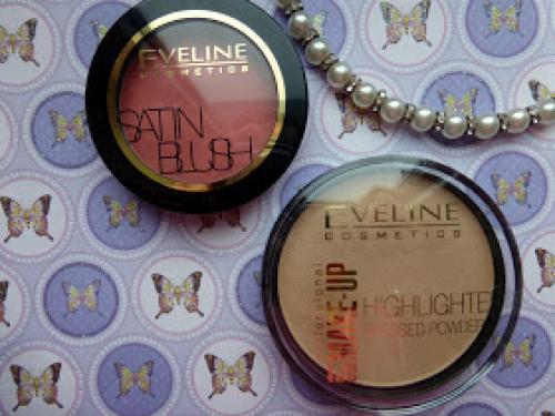 Рассветляющая пудра, как наносить. Eveline Румяна Satin Blush #01 Soft PinkРассветляющая пудра Highlighter Pressed Powder #55 Golden