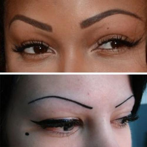 Перманентный макияж растушевка бровей теневой эффект. Полный обзор по татуажу бровей с растушевкой: как делается, уход, реабилитация, нюансы