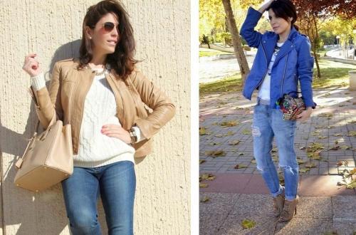 Кожаные куртки для женщин з.  Материал