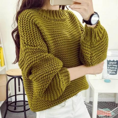 Как связать свитер крупной вязки спицами. Вязание свитера спицами