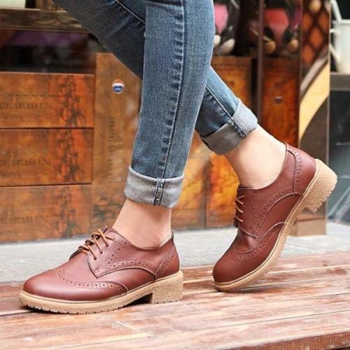 Полуботинки женские на шнурках с чем носить. Удобные модели весенне-осенних женских полуботинок, с чем лучше носить