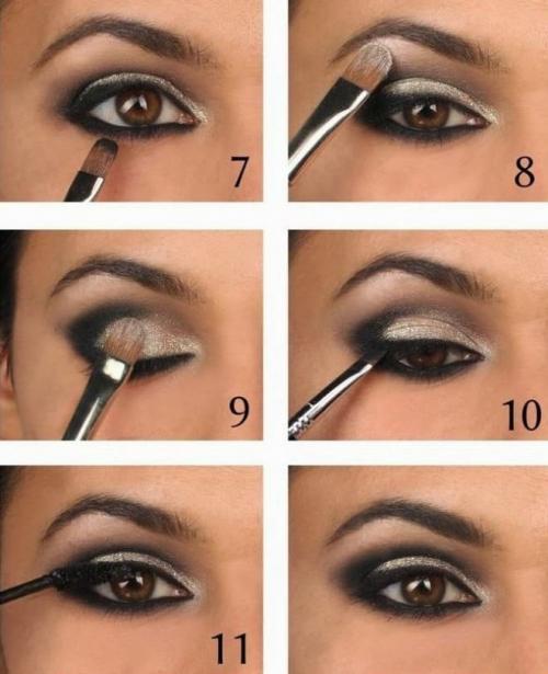 Как подвести глаза тенями. Как правильно красить глаза тенями – пошаговая инструкция с фото