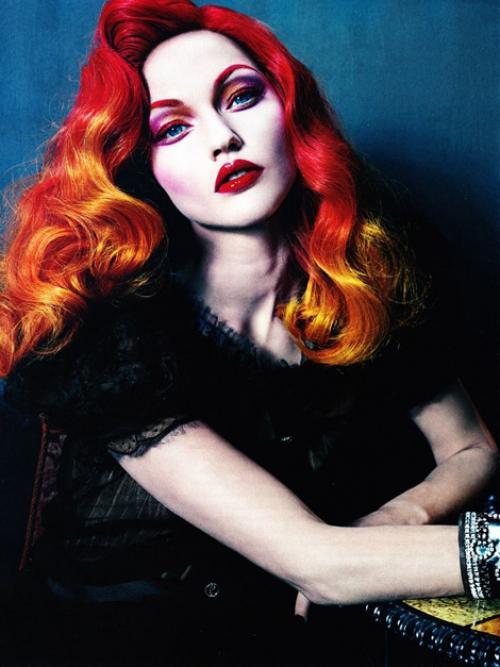Макияж для красных волос.