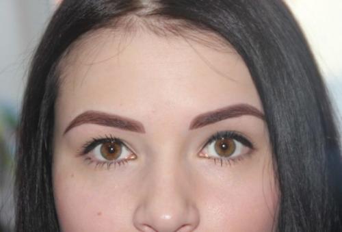 Перманентный макияж бровей: что это такое