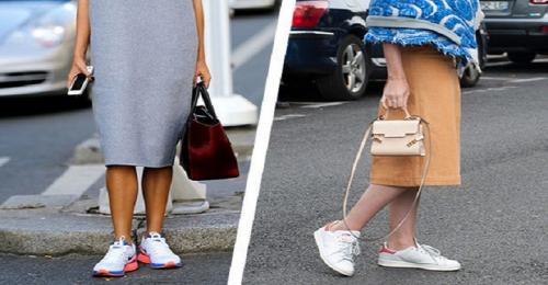 С чем носить кроссовки женщинам з.  С чем можно носить кроссовки женщинам 40+ и выглядеть при этом стильно
