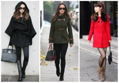 Пальто и короткие ботинки. С какой обувью носить женское пальто до колена?