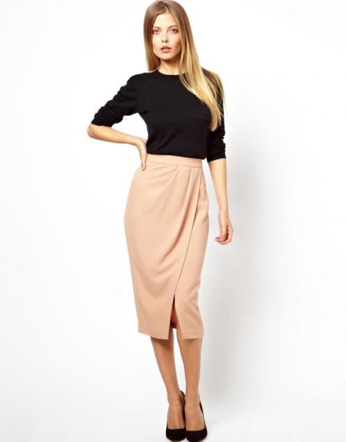 Модные юбки с запахом 2020. Модные цвета, принты и материалы юбки с зап