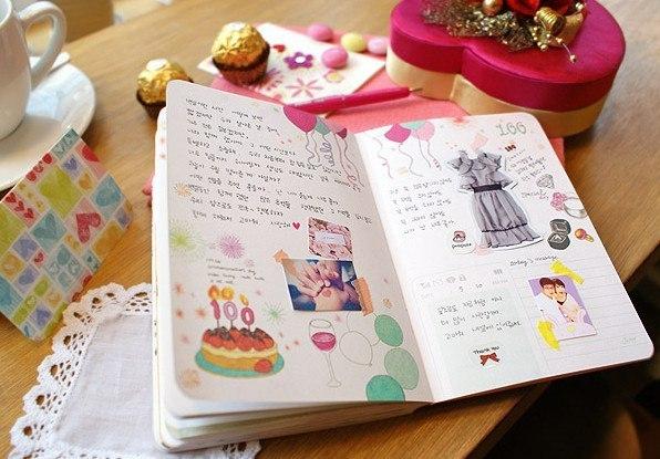 Личные дневники для девочек своими руками фото