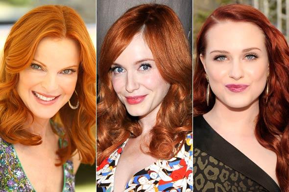 Макияж для рыжего цвета волос фото