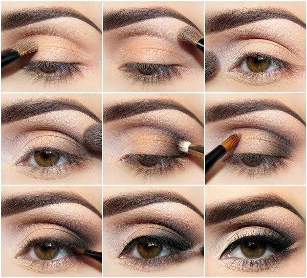 схема макияжа глаз для увеличения глаз