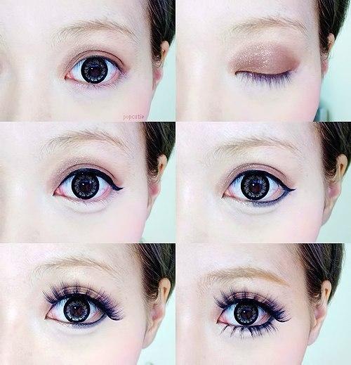 Как сделать макияж что глаза казались большими 720
