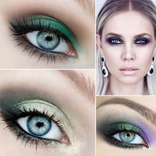 Зеленый тени макияж фото
