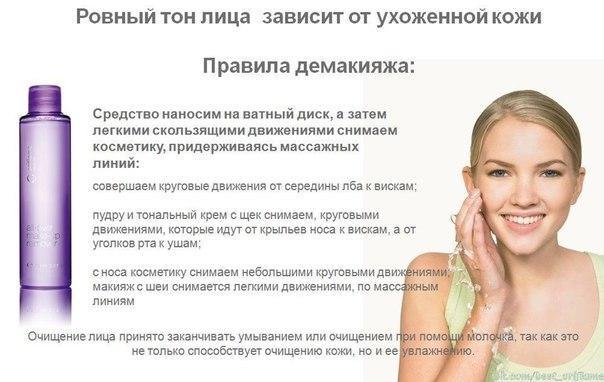 Схема очищения кожи лица