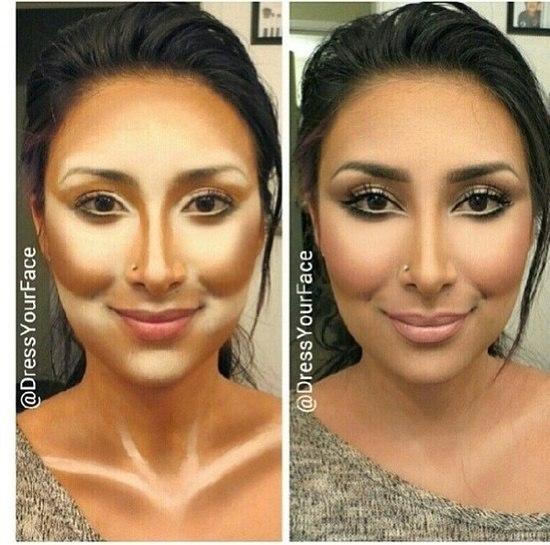 Как сделать рельефное лицо макияж