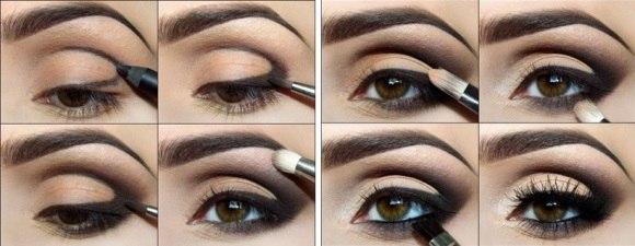 Как делать макияж для глаз поэтапно фото