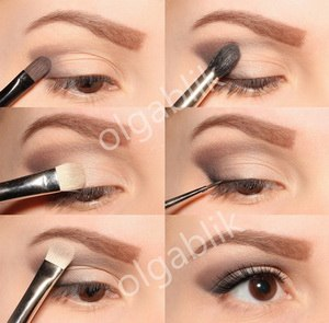 Как сделать в глаз макияж если нет век 50