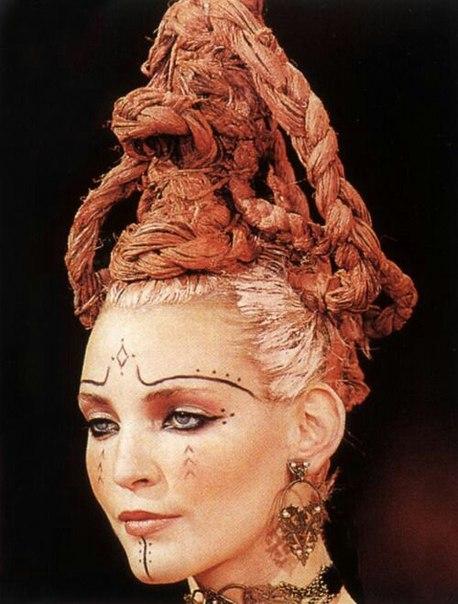 Берберы. Берберские рисунки(татуировки) на лицах.