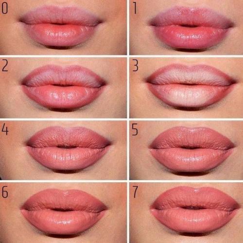 Макияж: как сделать губы полнее. Макияж глаз